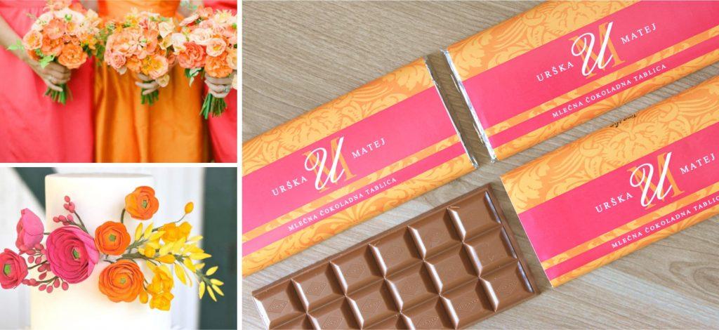 poročna darilca, poročna vabila, poročne tiskovine, poročne čokoladice