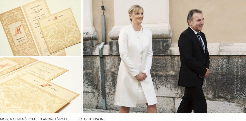 poročna vabila, poročne tiskovine, poroka, poroka znani slovenci